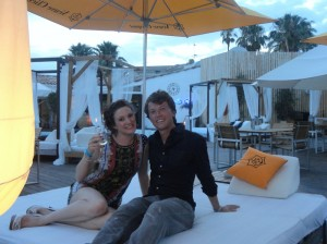 Katrina and I on holiday in Mallorca