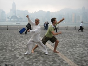 Tai Chi on the Star Pier in Shanghai as the sun rose - what an experience